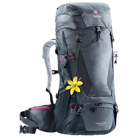 Mochila Semi-Cargueira Deuter Futura Vario 45+10 SL 2018 para Trekking Cinza e Preto