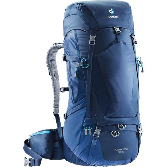 Mochila Semi-Cargueira Deuter Futura Vario 50+10 2018 para Trekking Azul