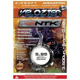 Munição BBs Airsoft 0,28g Nautika Velozter com 3500 Unidades