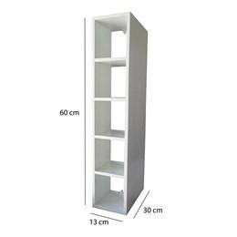 Nicho Garrafeiro Decorativo Branco para 05 Garrafas em MDF 15mm