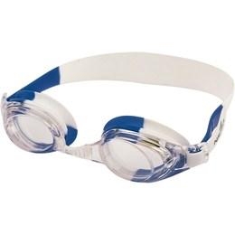 Óculos de Natação Bit Infantil com Tira de Silicone Branco e Azul - Nautika 500120