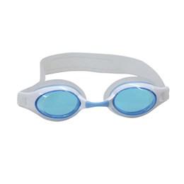 Óculos de Natação Century Juvenil com Tira de Silicone Branco e Azul - Nautika 500100