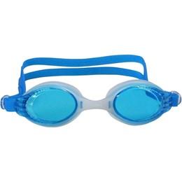 Óculos de Natação Dragon Adulto com Lente Policarbonato Branco e Azul - Nautika 500180