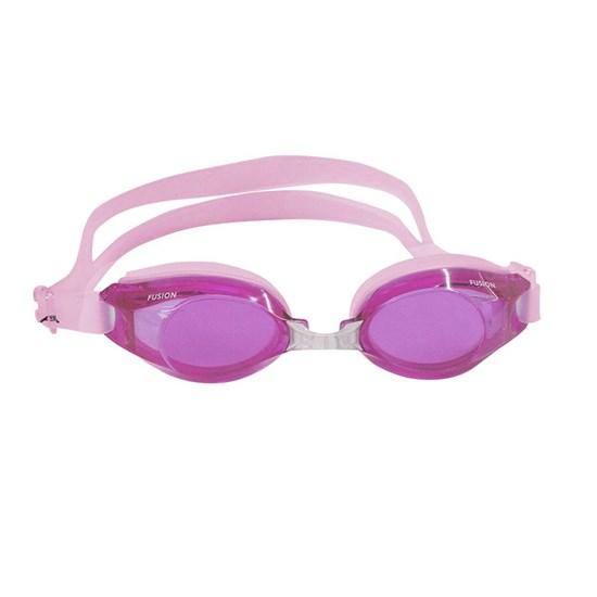Óculos de Natação Fusion Adulto com Tiras de Silicone Rosa - Nautika 500050