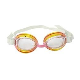 Óculos de Natação Split Infantil Rosa e Amarelo - Nautika 113100