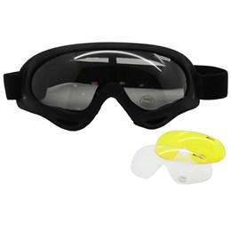 Óculos de Proteção Airsoft Nautika Luni com 3 Lentes