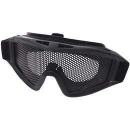 Óculos de Proteção com Tela e Elástico Ajustável para Airsoft Tático Nautika