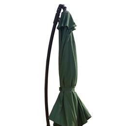 Ombrelone Suspenso 3m Rotony Dubai Verde Articulado com Base