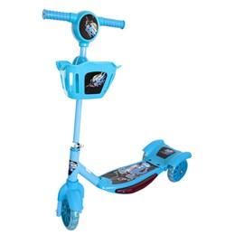Patinete Infantil Brinqway BW010 Azul com 3 Rodas e Cesta