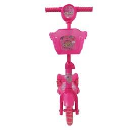 Patinete Infantil Brinqway BW010 Rosa com 3 Rodas e Cesta
