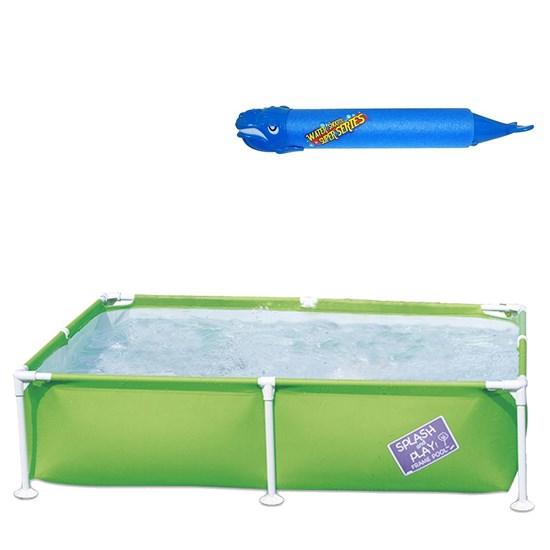Piscina Bestway Infantil Estruturada 800 Litros + Lança Água Baleia Azul
