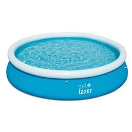 Piscina Inflável Redonda 7000 Litros Belfix Azul com Kit de Reparo
