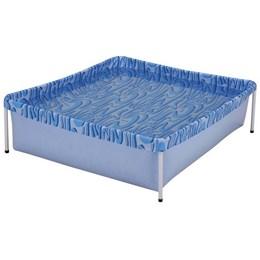 Piscina Retangular Infantil Mor 400 Litros Azul em Lona PVC