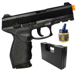 Pistola Airsoft 24/7 KwC com 1000 Munições BBs e Maleta Case Rossi