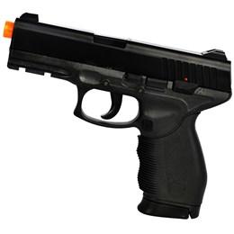 Pistola Airsoft 24/7 KwC com Máscara Meia-face Nautika e 1000 Munições BBs