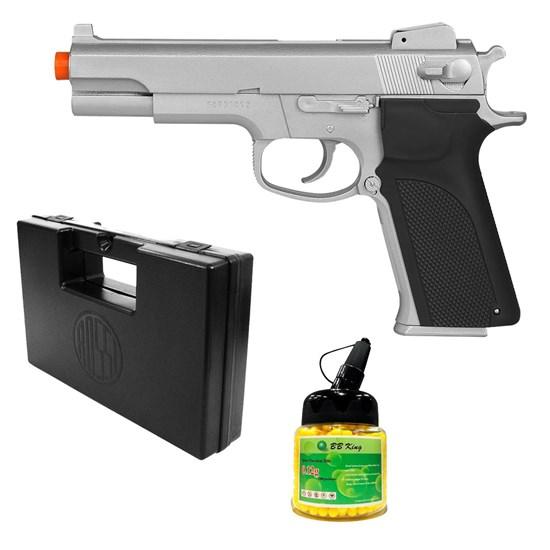 Pistola Airsoft 4505 KWC com 1000 Munições BBs e Maleta Case Rossi