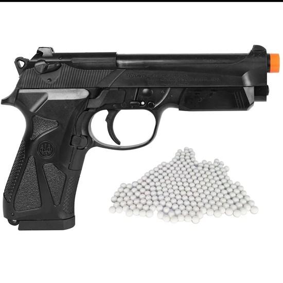Pistola Airsoft Beretta 90Two com 2000 Munições BBs