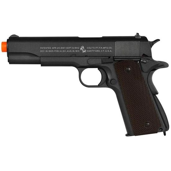 Pistola Airsoft CO2 CyberGun Colt 1911 491 fps Semi-Automática Full Metal Blowback