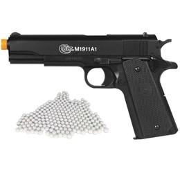 Pistola Airsoft Colt M1911A1 com 2000 Munições BBs