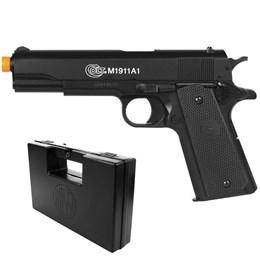 Pistola Airsoft Colt M1911A1 com Maleta Case Rossi
