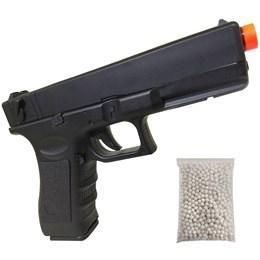 Pistola Airsoft CYMA CM030 G18C Elétrica AEP Bivolt com 500 BB's 0,20g