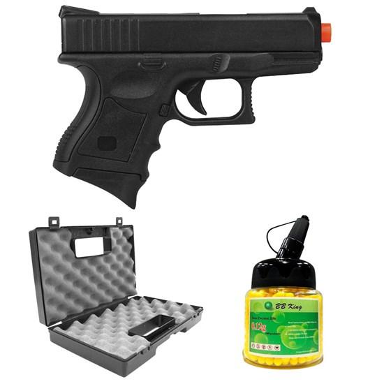 Pistola Airsoft CYMA P698 Spring + 1000 Esferas BB 0,12g + Case
