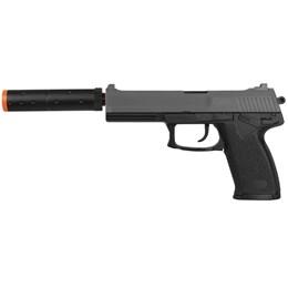 Pistola Airsoft Double Eagle M23 HK USP Spring com Silenciador Fake
