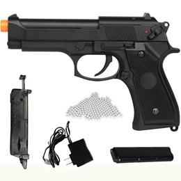 Pistola Airsoft Elétrica Beretta CM126 Full Metal + Munições BBs 0,12g BB King 2000 Un