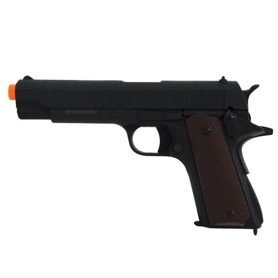 Pistola Airsoft Elétrica Colt 1911 Full Metal Bivolt 210 FPS CM123