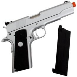 Pistola Airsoft GBB Army Armament MK-IV 70 R29 Silver Semi-Automática