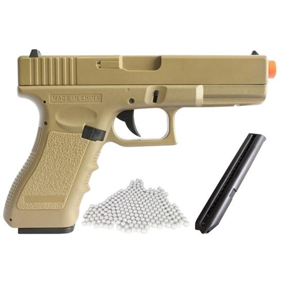 Pistola Airsoft Glock CM30 AEP com Magazine C26S e 2000 Munições BBs