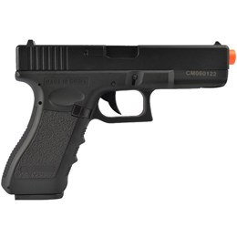 Pistola Airsoft Glock G18C Elétrica AEP Bivolt CYMA CM030 + 2000 BB's 0,20g + Case para Pistola 34cm
