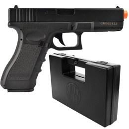 Pistola Airsoft Glock G18C Elétrica Bivolt CYMA CM030 + Case Maleta