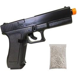 Pistola Airsoft KwC K17 com Trava de Segurança Full ABS com 1000 BB's 0,12g