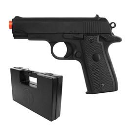 Pistola Airsoft P88 Colt Spring + Maleta Case Rossi para Armas Curtas até 28 cm
