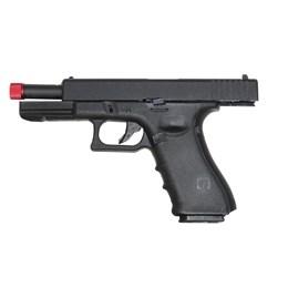 Pistola Airsoft R17 da Rossi Preta Green Gás com BlowBack com Trava Manual