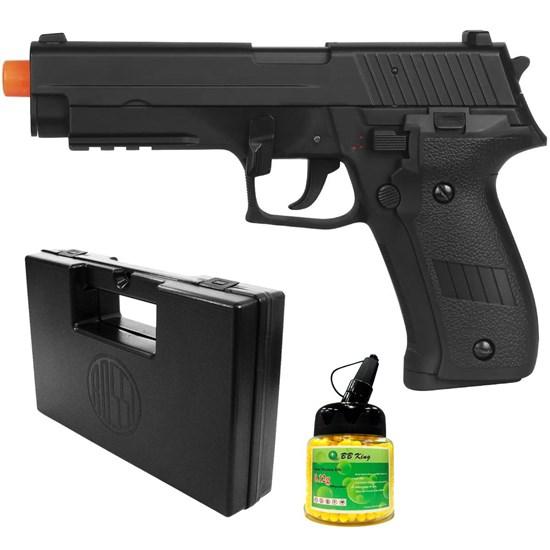 Pistola Airsoft Sig Sauer P226 AEP com 1000 Munições BBs e Maleta Case Rossi