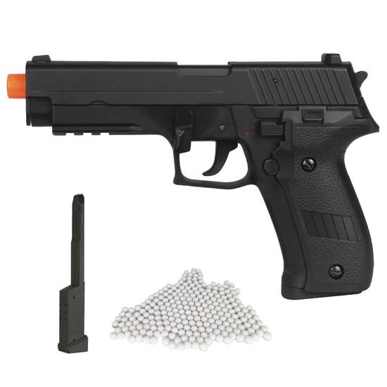 Pistola Airsoft Sig Sauer P226 AEP com Magazine Estendido e 2000 Munições BBs