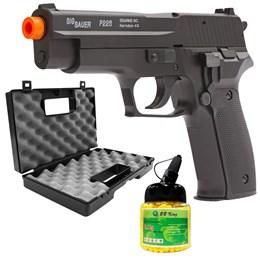 Pistola Airsoft Sig Sauer P226 com 1000 Munições BBs e Maleta Case Rossi