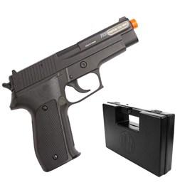 Pistola Airsoft Sig Sauer P226 Cybergun 220 FPS com Slide em Metal + Maleta Case Rossi