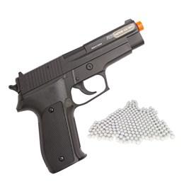 Pistola Airsoft Sig Sauer P226 Cybergun Spring 220 FPS + Munições BBs 0,12g 2000 Un