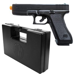 Pistola Airsoft Spring K17 com Trava Full ABS KwC + Case Maleta