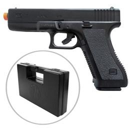 Pistola Airsoft Spring K17 com Trava Full ABS KwC + Case Maleta