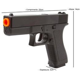Pistola Airsoft Spring Vigor VG GK-V307 150 FPS 6mm em Polímero