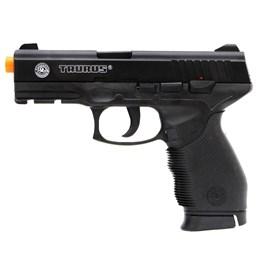 Pistola Airsoft Taurus PT 24/7 com 1000 Munições BBs e Maleta Case Rossi