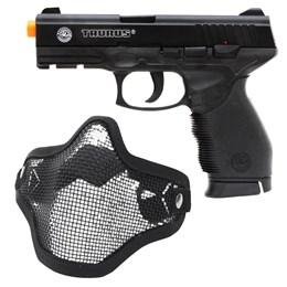Pistola Airsoft Taurus PT 24/7 com Máscara Meia-face Nautika