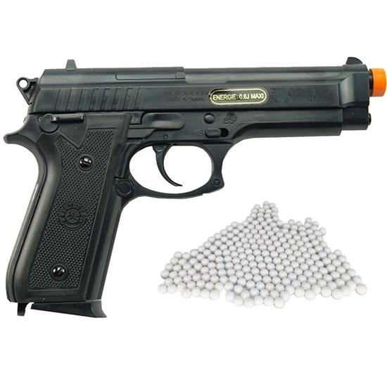 Pistola Airsoft Taurus PT92 Cybergun Spring 200 FPS + Munições BBs 0,12g 2000 Un