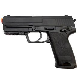 Pistola Airsoft USP Cyma CM125 Elétrica Full Metal + Maleta Case Rossi