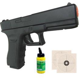 Pistola Airsoft Vigor GK-V20 Spring Full Metal + 2000 BB's 0,12g + 2 Alvos