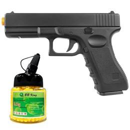 Pistola Airsoft Vigor Glock Full Metal + BBs 0,12g 1000 Unidades